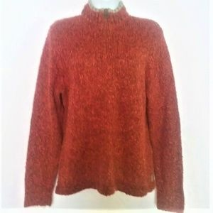 "Woolrich ""Henna"" 1/4 Zip Pullover Sweater Large"